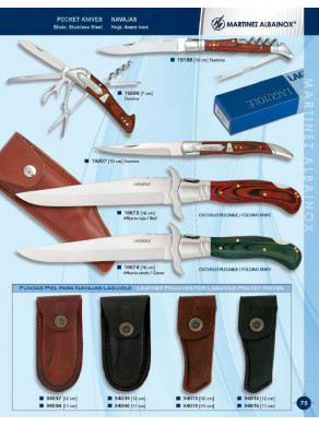 navaja laguiole o cuchillo plegable y fundas