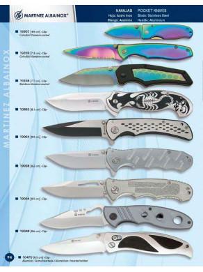 navaja aluminio varios tipos