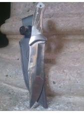Cuchillo de monte de ciervo de 17 cm