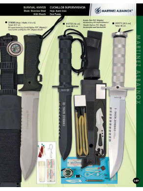 CUCHILLO SUPERVIVENCIA COMBAT KING I, II o III