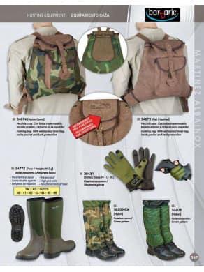 equipamiento de caza