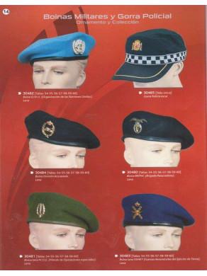 boinas militares y gorras