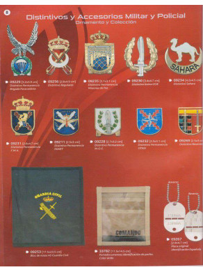 distintivos y accesorios y policial