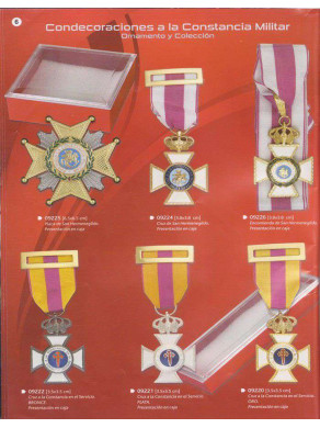 condecoraciones a la constancia militar