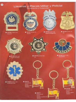 placas militares y policiales y llaveros