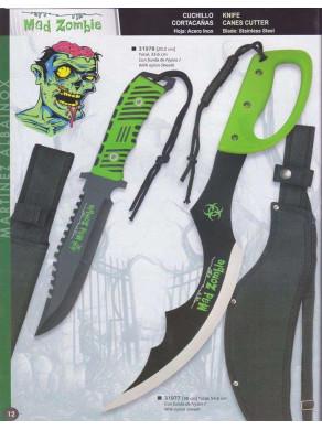 cuchillo o cortacañas mad zombie