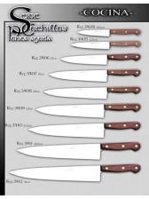 cuchillos cocina o carnicero punta aguda