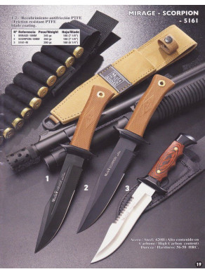 CUCHILLO MIRAGE - SCORPION -5161 DE MUELA