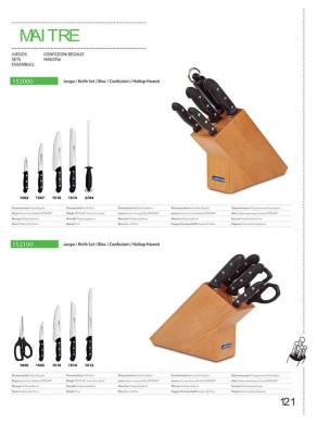 juego de cuchillos de arcos serie maitre