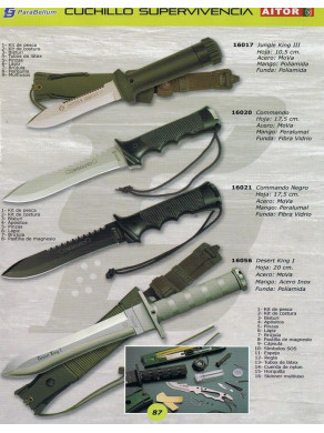 CUCHILLO DE SUPERVIVENCIA JUNGLE KING III O COMMANDO