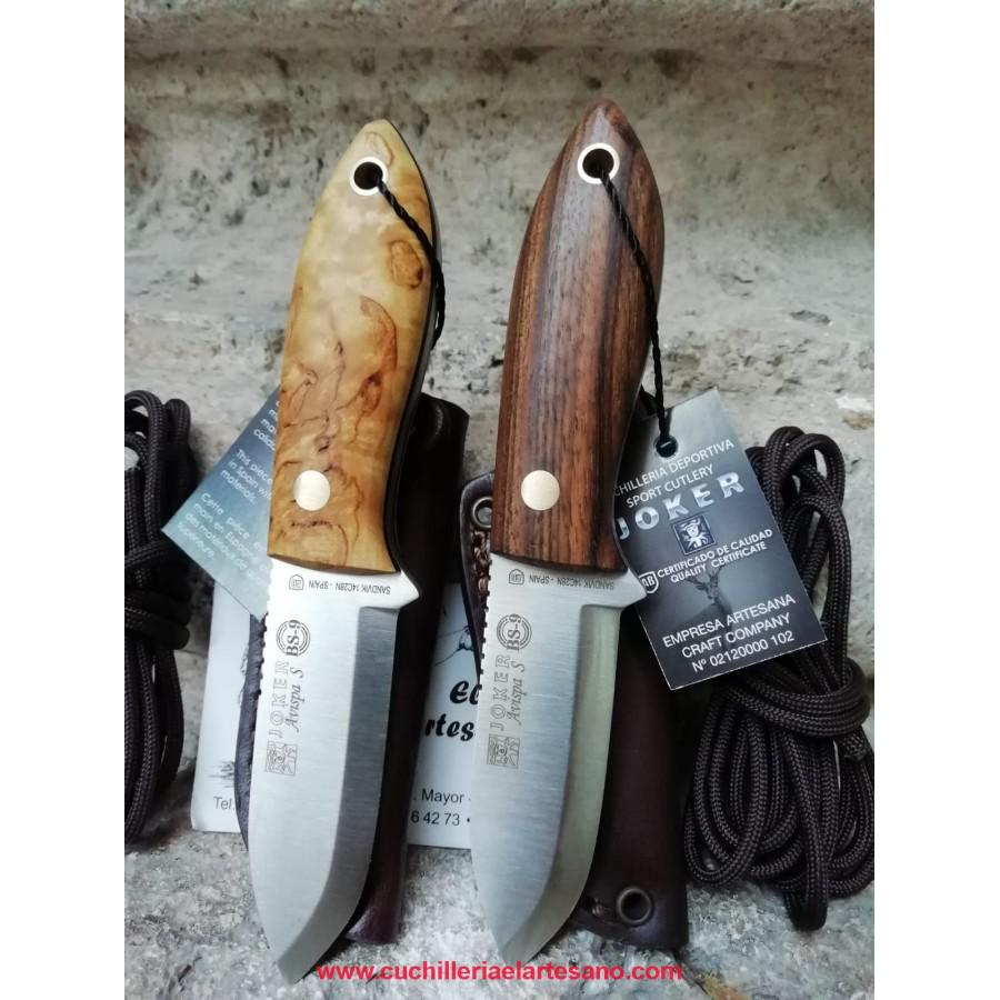 EXCLUSIVO CUCHILLO AVISPA MADERA JOKER