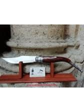 Navaja bandolera gigante de carraca o muelles madera n5