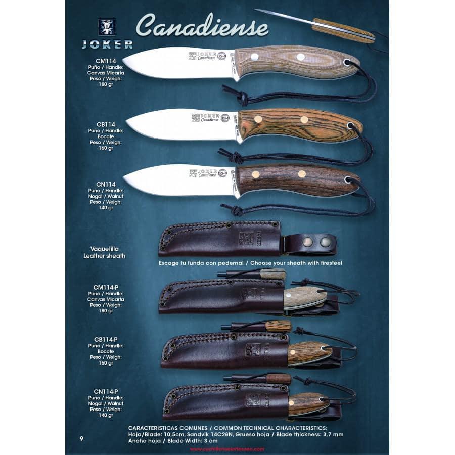 NOVEDAD CUCHILLO BS9 CANADIENSE JOKER