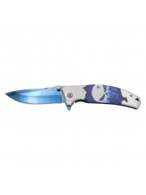 NOVEDAD NAVAJA BLUE TITANIO AZUL K2900