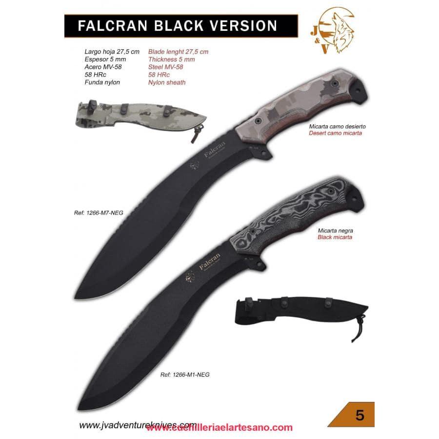 CUCHILLO FALCRAN BLACK VERSIÓN  J&V