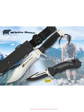 SET DE CUCHILLO WHITE BEAR Y NAVAJA