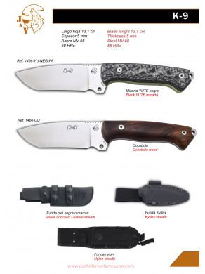 MOVEDAD CUCHILLO DE SUPERVIVENCIA K9 J&V